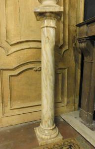 colonne dars168 en marbre clair, taille h 107 x base 21 cm