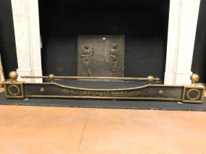 al219 - cendrier noir et doré, 19e siècle, taille cm 137 xh 21