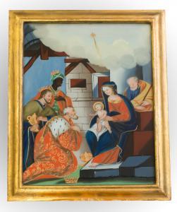 Peint sur le verre de la zone Piémont bien sec. XVIII