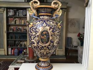 Vase en céramique peinte