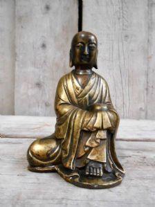 Sculpture en bronze de Bouddha -