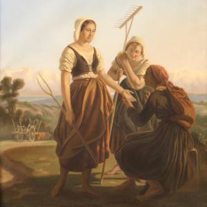 Joli pastel du 19ème siècle