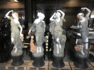 Statues en marbre selon les saisons 190h