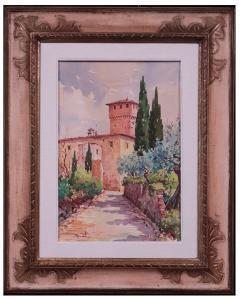 Giovanni Ospitali (Bologne 1927) - Paysage toscan