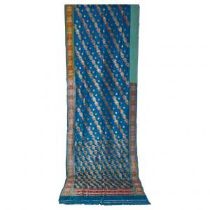 Antique indien SARI turquoise