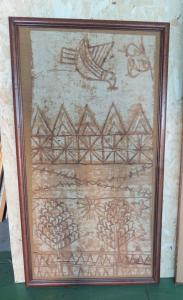 Batik africain du début du XXème siècle 45 x 92