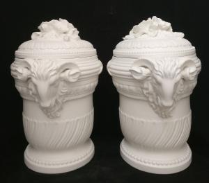 Bellissima Coppia di Vasi in Ceramica - H 60 cm - Venezia