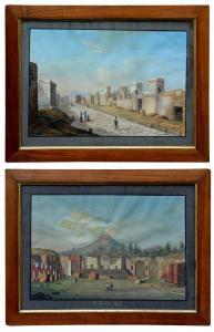 Vues de Pompéi, Francesco Fergola (1801-1875)