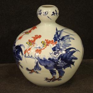 Vase chinois en céramique peinte