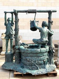 Fontaine en bronze 190x120x190h