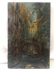 """Attilio Andreoli. 1877/1950 """"Venise"""""""