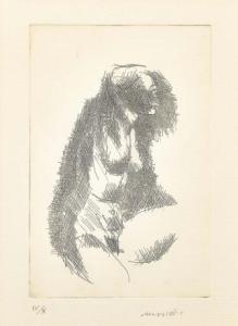 """""""Nudo"""" - Gravure de Ennio Morlotti édition 4/10, Gravure de Ennio Morlotti édition 4/10"""