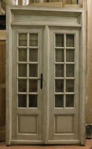 ptl550 - porte vitrée complète avec cadre et surporte, cm l 145 xh 251