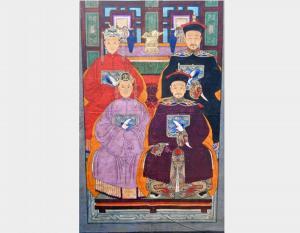 toile peinte à la main Art 3075A