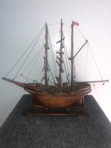 Maquette d'un voilier en bois.Italie