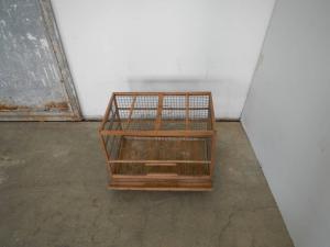Cage en bois des années 50