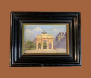 José García Ramos (1852-1913) - Paris: Arc du Carrousel et musée du Louvre