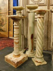 dars419 - n. 4 colonnes d'albâtre, seconde moitié du XXe siècle