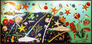 """""""Genetic Fusions"""" - Plastique sur panneau de bois par Omar Aprile Ronda, Plastique sur panneau de bois par Omar Aprile Ronda"""