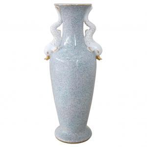 Grand vase en porcelaine fabriqué en Italie 1980