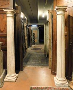 dars314 paire de colonnes laquées, h 210 x base 33 x 33 cm