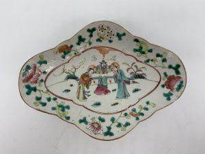 Plateau en porcelaine chinoise de Nanjing - Fin du XIXe siècle