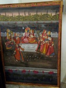 Paire de peintures indiennes
