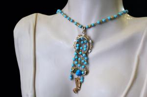 Collier pendentif Néfertiti