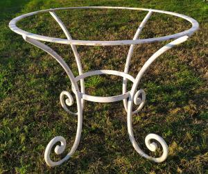 Base per tavolo in ferro battuto cm Ø 100