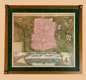 Matthaus Seutter (1678-1757) -belle carte de Madrid à 1730