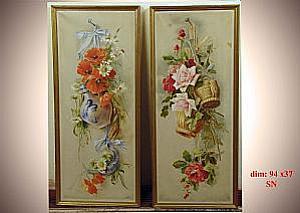 Paire de peintures à l'huile sur toile - Paire de peintures à l'huile sur toile