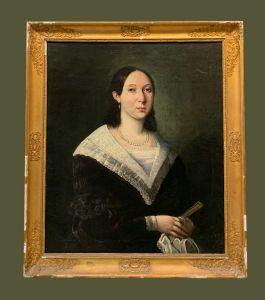 Ecole française (début XIXe siècle) - Portrait de femme
