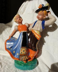 Danseurs - komlos en céramique 1930