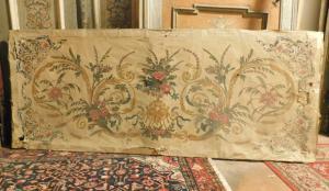pan251 - papier antependium sur toile, époque '800, cm l 218 xh 90