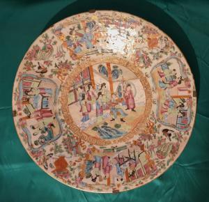 Assiette en porcelaine de Chine fin 19ème siècle