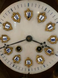 Pendule à cadran en albâtre de la fin du 19ème siècle