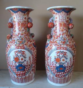 Paire de vases japonais du début des années 1900