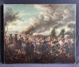 Bataille de Staffarda 1690 signé RL