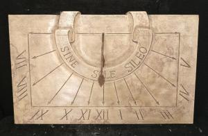 Particolare meridiana in marmo d'Istria - Sine Sole Sileo - Marmo d'Istria - xx secolo