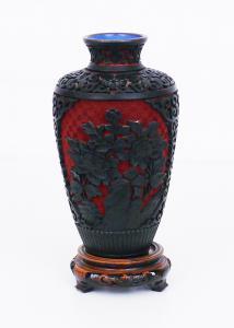 Vase en laque de cinabre - AH / 1047