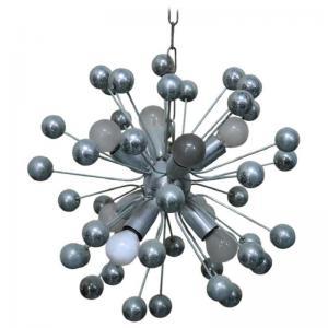 lustre spoutnik design italien en métal chromé années 80 PRIX NÉGOCIABLE