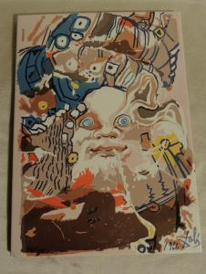 tuile conçue par Salvator Dalì 22 x 29 cm