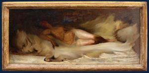 19ème siècle, Esquisse d'une femme nue couchée