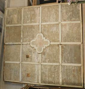 darb171 - plafond stube daté 1873, Suisse, cm l 440 xh 455