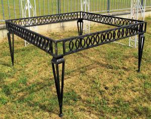 Base per tavolo in ferro battuto cm 140x140