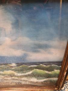 Peinture sur les ondes de tempête de Gainotti
