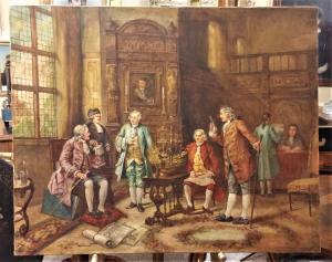 Peinture à l'huile sur toile début du 20ème siècle