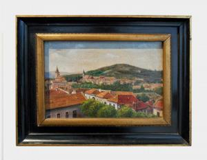 Huile sur toile représentant le paysage Art 398