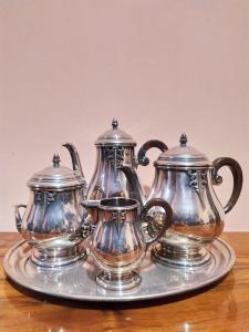 Service à thé ou à café en argenterie d'époque Art Déco France