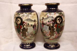 Vases en porcelaine japonaise, moitié de 900.